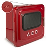 Outdoor Red AED Cabinet with Alarm & Strobe - Slight Damage