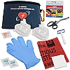 2 Rescuer PREMIUM CPR/AED Responder Pack with Responder Mask in nylon pouch