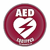 AED Equipped Facility Static Cling Window Decal - 4