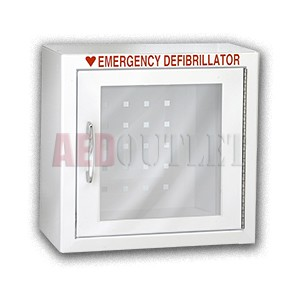 Compact Surface Mount AED Wall Cabinet w/o Alarm - Minor Scratches
