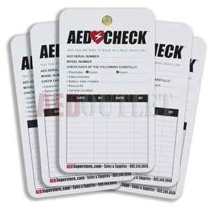 AED Check Tag (5-pack)