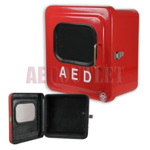 Outdoor Red AED Cabinet no Alarm - Pre-Owned
